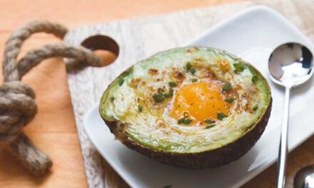 Recipe for Casserole Eggs Cooked in an Avocado
